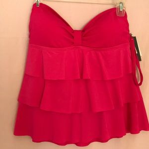 Kenneth Cole Reaction Ruffled Swim Tankini Size L
